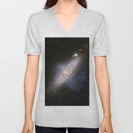 Overlapping galaxies NGC 3314 Unisex V-Neck