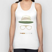 fear and loathing Tank Tops featuring Movie Icons: Fear and Loathing in Las Vegas by Raquel Sanchis