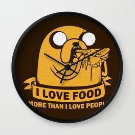 i love food more than i love people Wall Clock