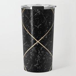 Gold & Black Marble 02 Travel Mug