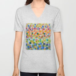 Light Squares and Frames Pattern Unisex V-Neck