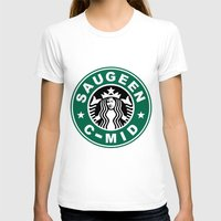 starbucks T-shirts featuring Starbucks C MID by Rainer Hilland
