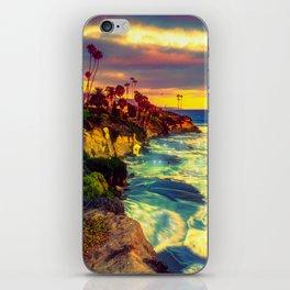 Glowing sea iPhone Skin