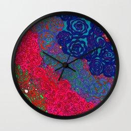 """""""Roses"""" Wall Clock"""