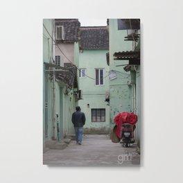 Alleys of Qibao Metal Print