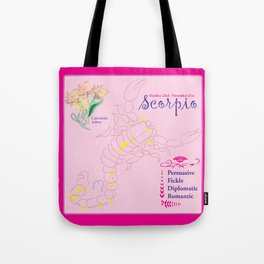 Scorpio October Tote Bag