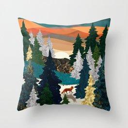 Amber Fox Throw Pillow