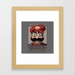 Wanted plumber Framed Art Print