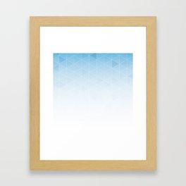 Blue cuts Framed Art Print