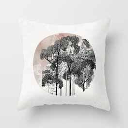 Crux - City in the Trees Throw Pillow