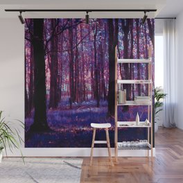 purple forest Wall Mural