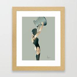 PAINTED BLACK Framed Art Print