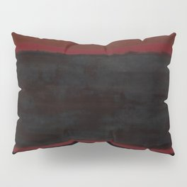 Black, Brown on Maroon 1957 Pillow Sham