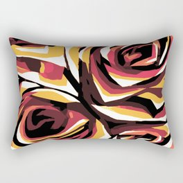 Autumn Roses Rectangular Pillow
