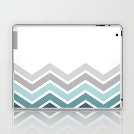 WHITE/ TEAL CHEVRON FADE Laptop & iPad Skin