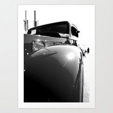 Roadster closeup Art Print