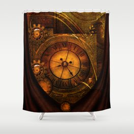 Awesome noble steampunk design Shower Curtain