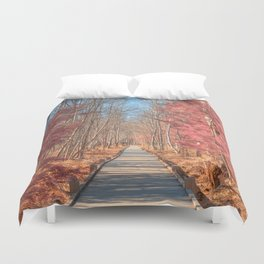Jesup Boardwalk Trail - Tickle Me Pink Duvet Cover