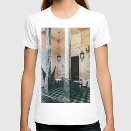 Coffee and frescoes in ex-hacienda in Mexico T-shirt