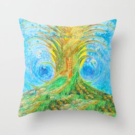 Flow Song of the Universe Throw Pillow