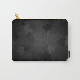 Minimalist mosaic geometric black background Carry-All Pouch
