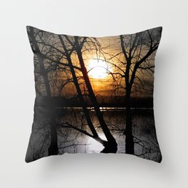Departing Colors Throw Pillow