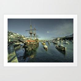 Brixham Pelican  Art Print