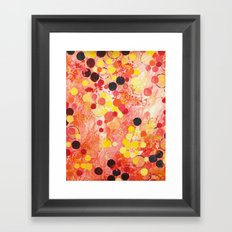 PERSONAL BUBBLE - Hot Pink Bubblegum Pop Fun Whimsical Circles Abstract Acrylic Painting Gift Framed Art Print