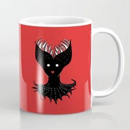 Creepy Demon Girl Has Opened Head With Teeth Coffee Mug