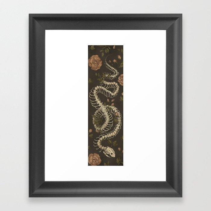 Snake Skeleton Gerahmter Kunstdruck