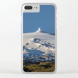 Snaefellsjokull volcano 3 Iceland Clear iPhone Case