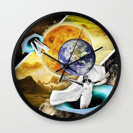 Cyd Charisse rules the universe Wall Clock
