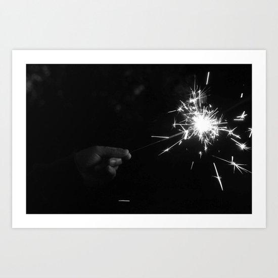 Sparkler Art Print