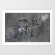 Safari moon Art Print