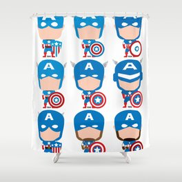 CAPTAIN EVOLUTION Shower Curtain
