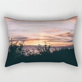 Turnagain Arm Sunset Rectangular Pillow