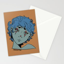 Moody Clown Stationery Cards