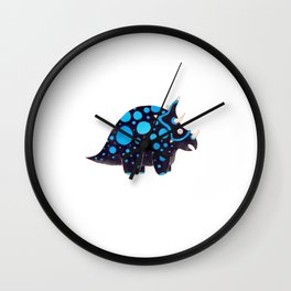 Torosaurus black and blue Wall Clock