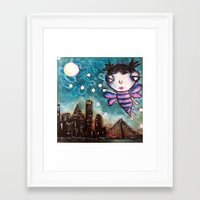 friday night lights Framed Art Prints featuring Friday Night Lights by Bev Jensen