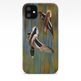 Mallard Ducks in Flight iPhone Case