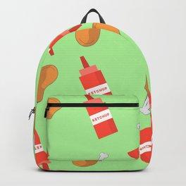 Chicken Wings & Ketchup Backpack