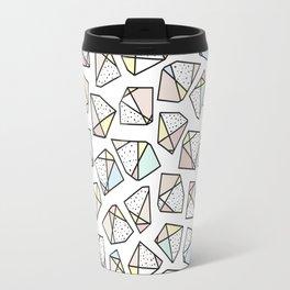 Polygonal stones and gemstones Travel Mug