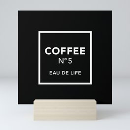 Black Coffee No5 Mini Art Print