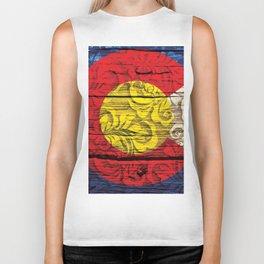 Colorado Flag Royal Stain Biker Tank