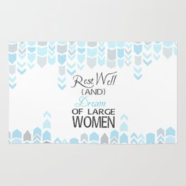 rest well and dream of large women.. princess bride funny quote Rug