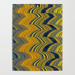 Blue and yellow abstract Poster