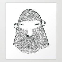 Bigfoot Portrait, Friendly Male Art Print