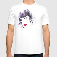 Queen of Pin-Up White MEDIUM Mens Fitted Tee