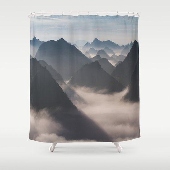Mountains Calling Shower Curtain
