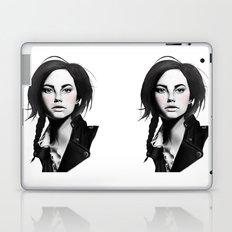 Fashion Illustration - Leather Jacket Laptop & iPad Skin